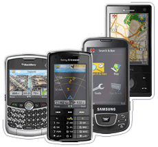 BlackBerry, Sony Ericsson W960, Samsung i7500 (Galaxy), HTC Diamond